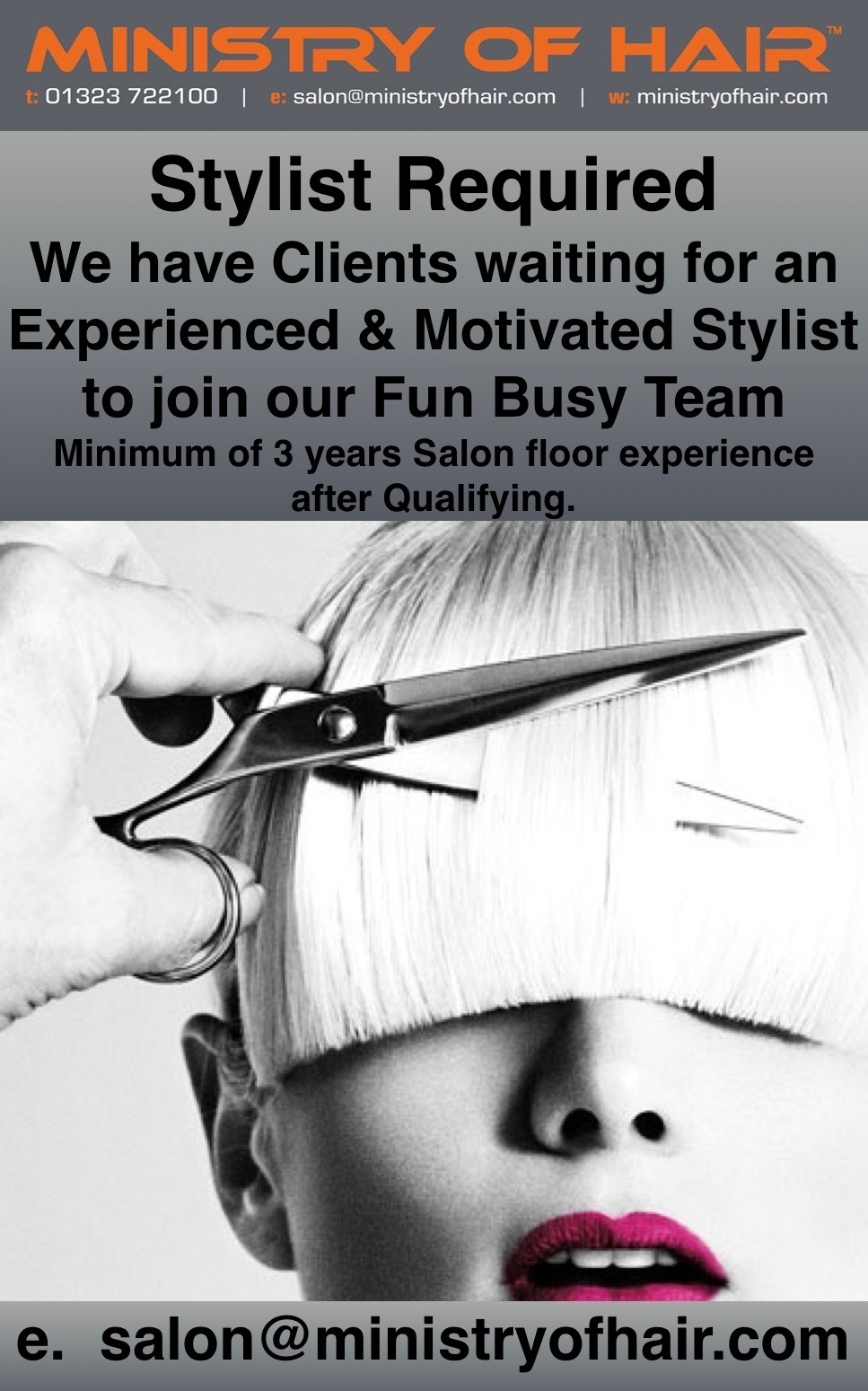 We are looking for a Full or Part time Salon Director to join our fun busy Team